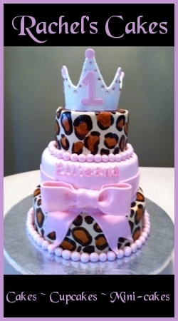 June 2011 WOBC spotlight of the Month is Sheri Mersola of Roundabouts Cupcake Sleeves: http://ow.ly/cu9psRachel Cake, Http Www Rachelscakesli Com, Bakeries Cake, Wobc Members, Cakes Cupcakes, 2011 Wobc, Parties Ideas, Cake Cupcake'S Cookies, Business Club