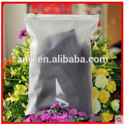 """100x frosted self adhesive plastic gift bag with zipper 14x20cm for VCD box, underwear, etc"""
