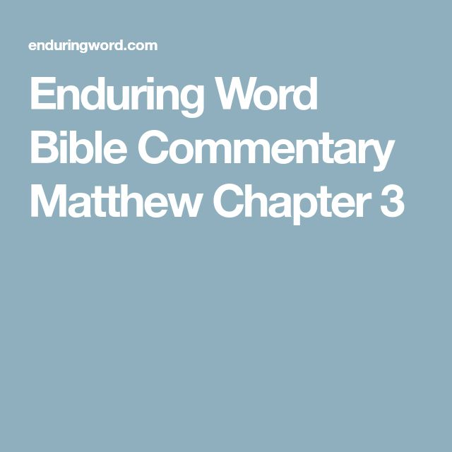 Bible Commentary Matthew Chapter 3 Kids Church Family Bible Time