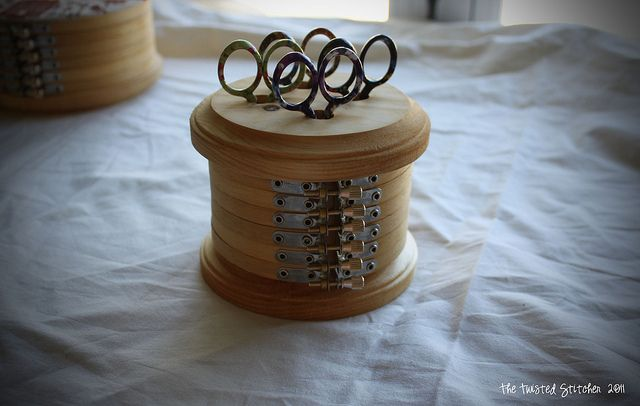Learn to finish with the Twisted Stitcher: A Embroidery Hoop Scissors Keepe...