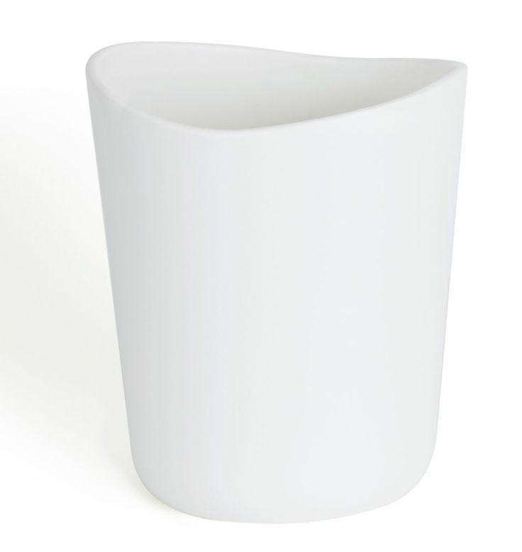 new umbra kera ceramic bathroom minimalist waste garbage bin can accessory