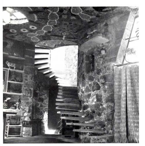 Juan O'Gorman House, Pedregal de San Angel, DF 1956 (demolished) by Juan O'Gorman -    Staircase to the bedroom