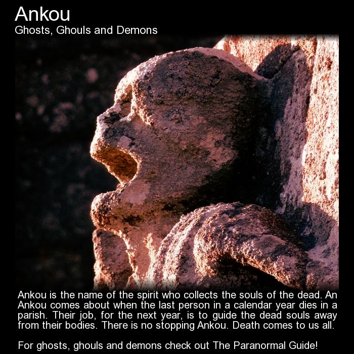 Ankou. The last to die in a parish in a year has the job to guide the souls of the next year. http://www.theparanormalguide.com/blog/ankou