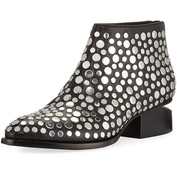 d126a844e4b Alexander Wang Kori Studded Leather Lift-Heel Bootie ($695) ❤ liked ...