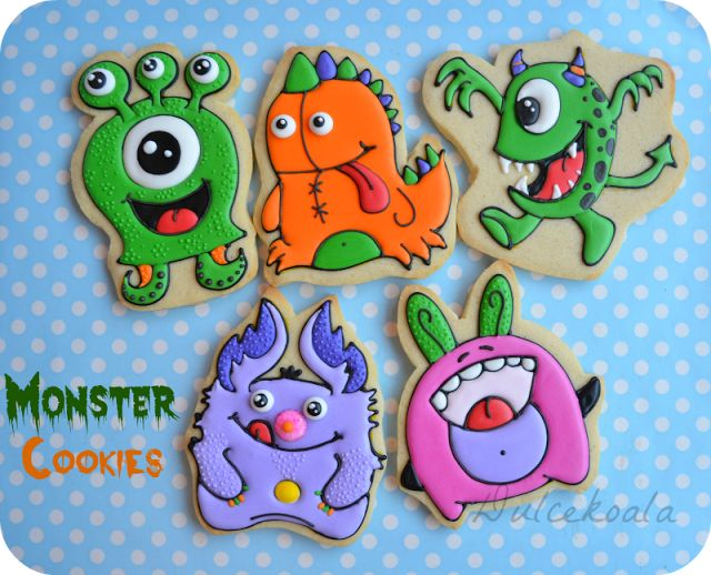 Galletas Monstruitos Decoradas