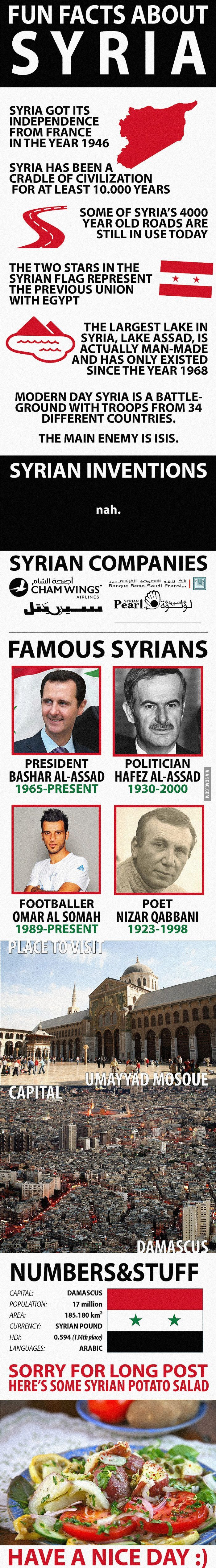 Fun Facts about Syria http://ibeebz.com