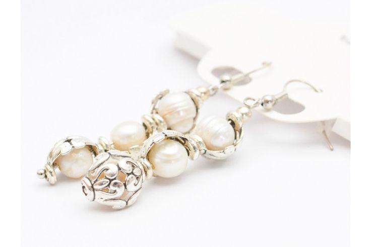 Cercei handmade Perle de cultura
