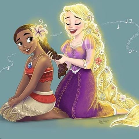 Moana or Rapunzel?! How about both !! These are my favorite disney princesses