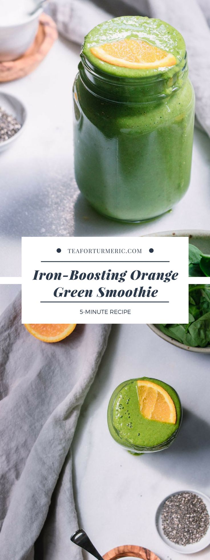Eisenverstärkender orange-grüner Smoothie – Der beste Geschmack, die beste Textur und …   – smoothie