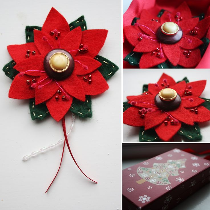 Poinsettia's shout out Christmas to everyone, we have designed & handmade this Christmas brooch. £8.00 for the brooch or £10.00 if you would like to include the gift box. Perfect for brightening up your jacket on the run up to Christmas or would make a perfect Christmas gift.