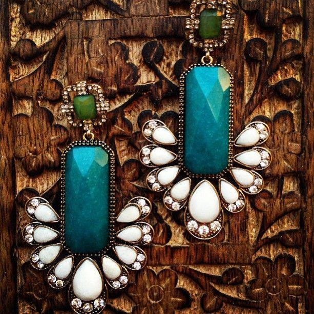 SAMANTHA WILLS - Sagittarius Skies Grand Earrings; Jewellery Turquoise Luxe Jewelry Bohemian Crystals