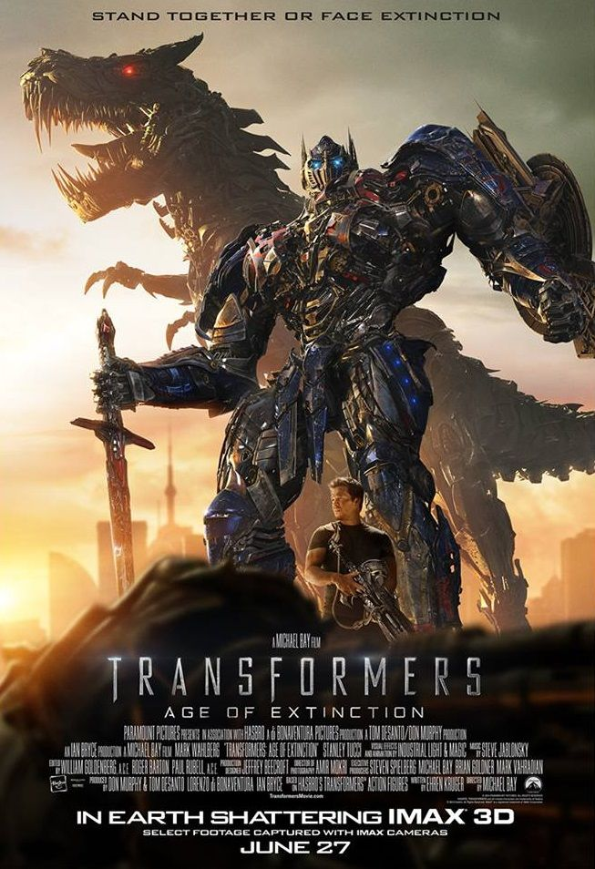 Comes out tomorrow! So excited for the fam to go see it. Transformers 4 - Age of Extinction