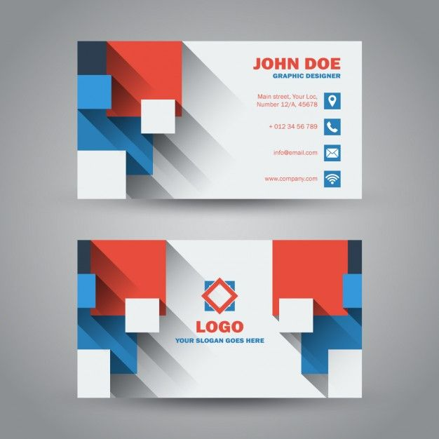 41 best free business card templates images on pinterest business flat design business card with long shadowmake a business card template reheart Gallery