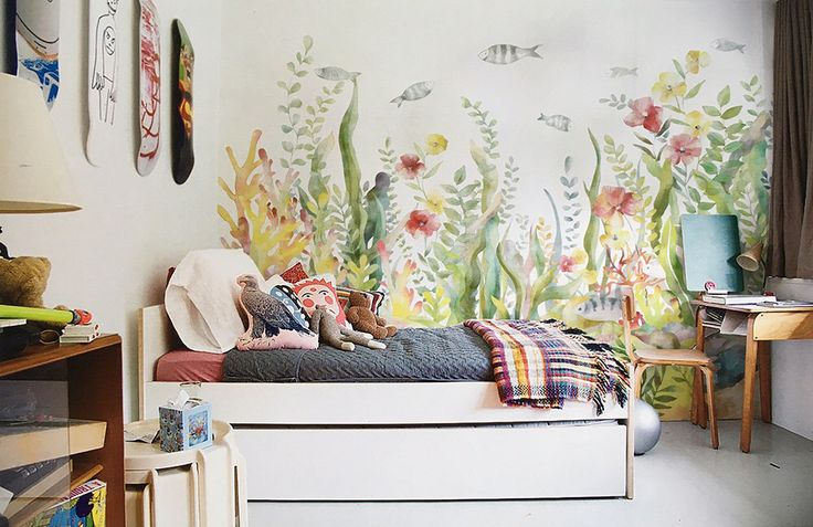 Algues & corail papier peint Ocean World scène sous-marine des poissons tropicaux mur murale mer coloré vie frais Wall Art aquarelle peinture paysage par DreamyWall sur Etsy https://www.etsy.com/fr/listing/278200200/algues-corail-papier-peint-ocean-world