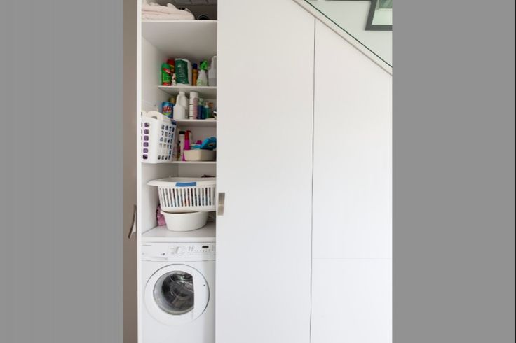 Concealed laundry