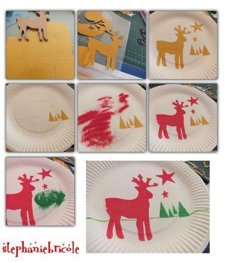 Compo sablimage recup dessiner un renne bricolage noel - Bricolage de noel pour enfant ...