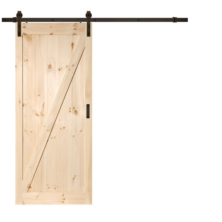 Solid Core Z-Frame Soft Close Pine Barn Interior Door (Common: 36-in x 84-in; Actual: 36-in x 84-in)
