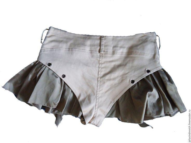 """Купить X_057 Шорты """"с юбочкой"""" розово-бежевые - бежевый, однотонный, шоколадный, шорты, шортики"""