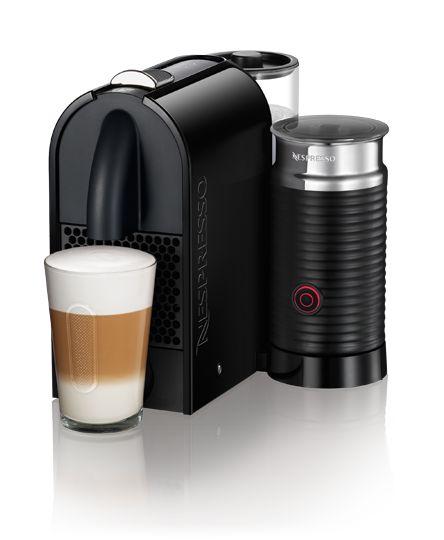 DeLonghi Umilk Black & Integrated Aeroccino   Nespresso