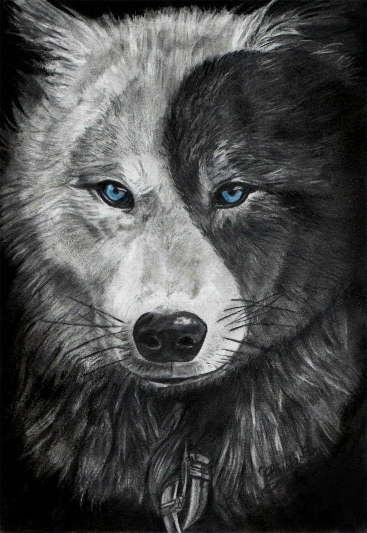 учетом черно белые картинки с волком с голубыми глазами фото обнаженной красотки