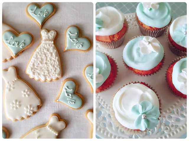 ウエディングドレスをモチーフにしたクッキーと、ティファニーブルーのカップケーキ! 心ときめく花嫁のエレメントばかりを集めたスイーツは、料理研究家の柳瀬久美子さん @kumikette が #TiffanyWeddingWednesday のために。 @tiffanyandco --- #VOGUEWedding #ヴォーグウエディング #プレ花嫁 #ドレス選び #ウエディングドレス #ウェディングドレス #結婚準備 #weddingdress #bridaldress #ブライダル #bridal #Wedding #ウエディング #ウェディング #Tiffany #Tiffanyblue #ティファニー #ティファニーブルー #weddingwednesday --- #sweets