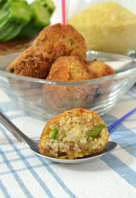 Polpette di cous cous zucchine e tonno