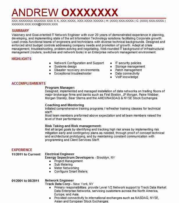 Electrical Engineer Resume Sample Resumes Misc Livecareer Resume Template Engineering Resume Engineering Resume Templates