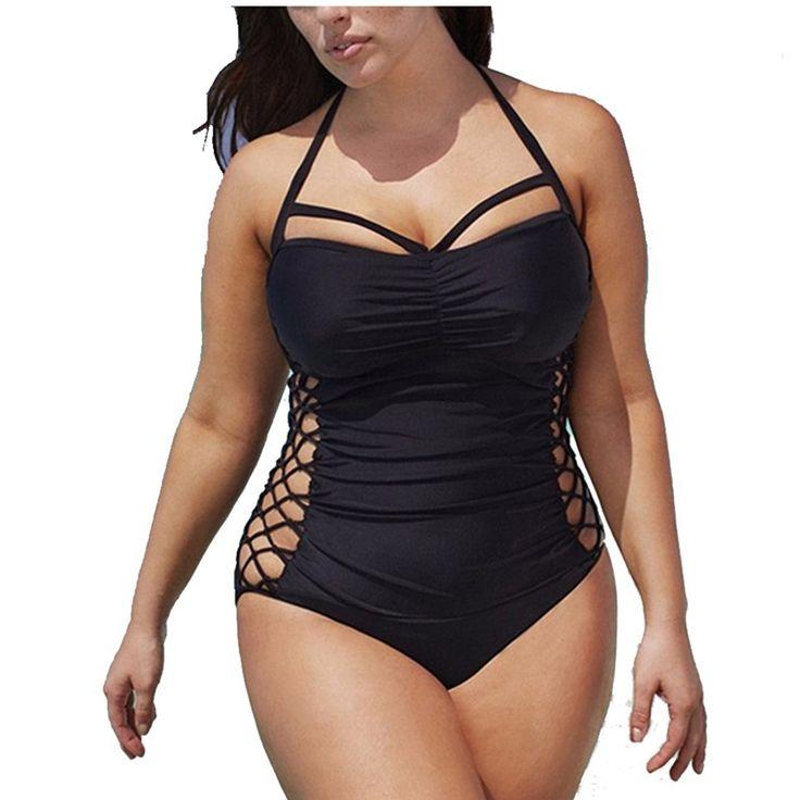 5XL Plus Rozmiar Stroje kąpielowe Jednym Kawałku 2017 Push Up Pływanie Garnitur Dla Kobiet Kostiumy Kąpielowe Monokini Swimsuit Bandaż Sexy kąpiel