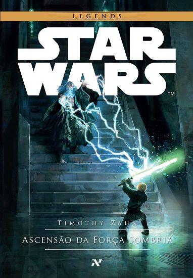 cover do livro 2 de Star Wars Legends Ascensão da Força Sombria da série Trilogia Thrawn pela editora Aleph