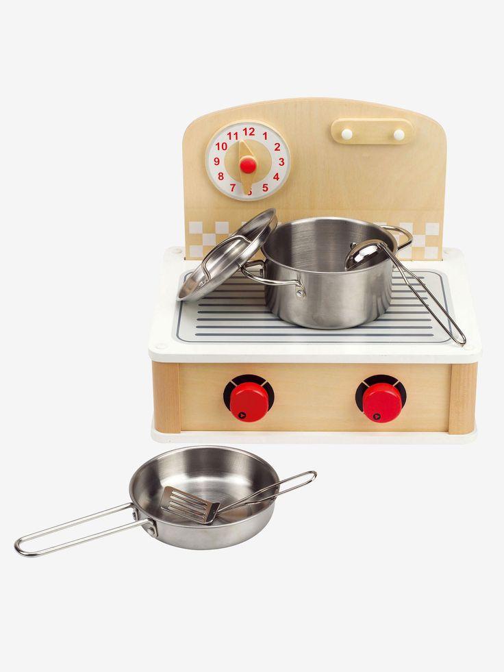 Mini cuisinette Hape multicolore - Permet aux mini cordons bleus de jouer partout !  www.vertbaudet.fr