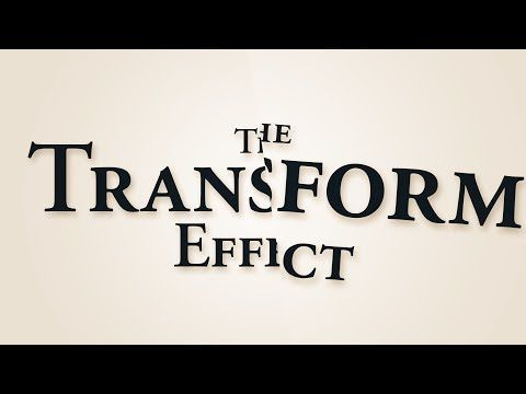 ▶ Easy Glitches (The Transform Effect) - Adobe After Effects tutorial - YouTube