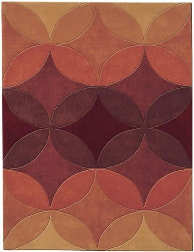 Cayenne Colored Kaleidoscope Rug  $1000 domestic modern.com