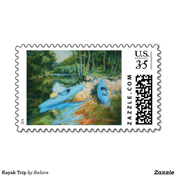 Kayak Trip Postage