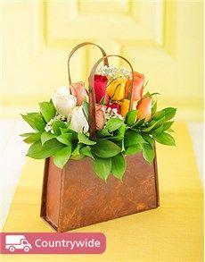 Singapore Flowers: Mixed Rose Handbag!