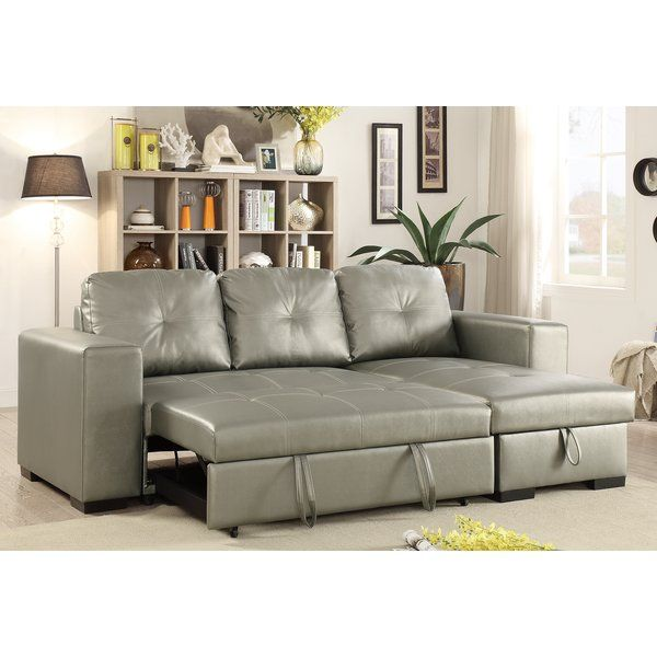 You Ll Love The Buchman Linen Like Reversible Sectional With Pull Out Bed At Wayfair Gr Sectional Sofa Sectional Sofa Couch Leather Sectional Sofas