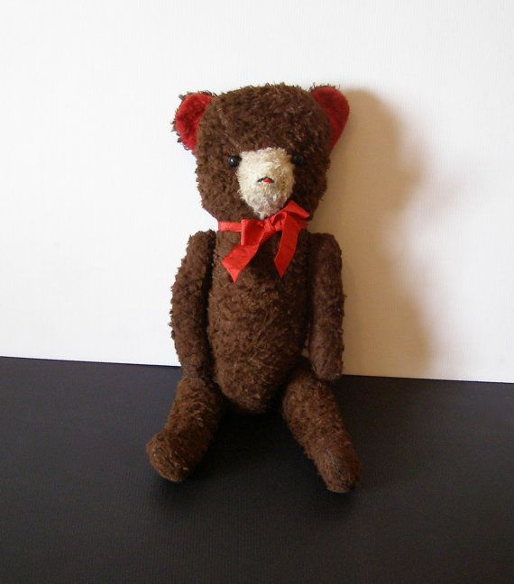 Ancien Ours en Peluche 50's - Old Teddy Bear - 50's - teddy vintage