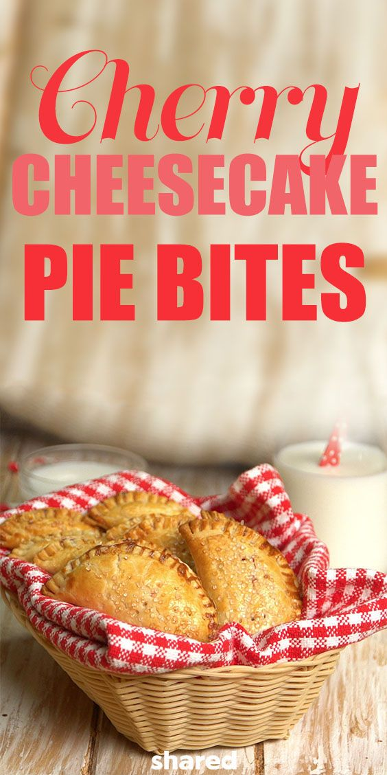 Why slave over a pie when you can whip up some pie bites in no time?! These Cherry Cheesecake Pie Bites are sooo good, and perfect when you've got a bunch of people to make treats for! Skip the homemade pie crust and cut out rounds from store-bought pie dough instead for an easy fix. All you need to do from there is pile in your pie filling, seal them up and bake away! Dip in the almond glaze for a dessert to remember!