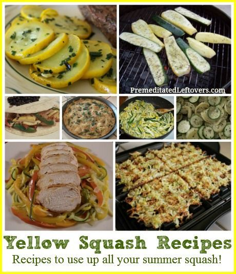 Delicious Yellow Squash Recipes - These recipes will help you use up all the summer squash from your garden.