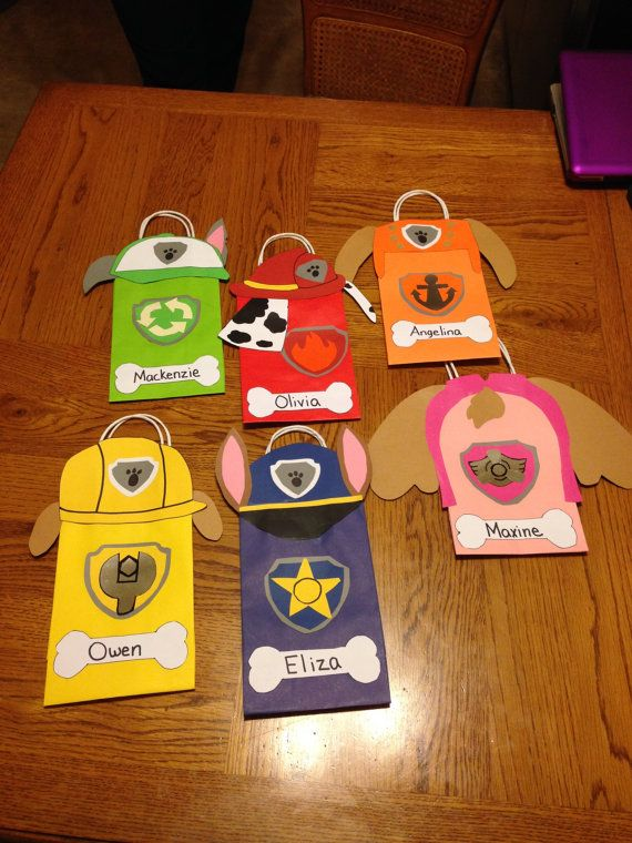 Bolsas de regalo/favor de patrulla de la por KrissysKraftKloset