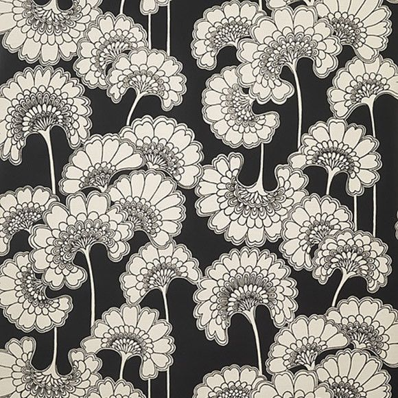 Wallpaper - Florence Broadhurst Black Japanese Floral | Collected by LeeAnn Yare