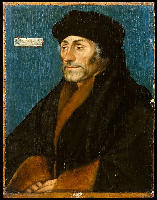 Erasmus of Rotterdam, Hans Holbein the Younger (German, Augsburg 1497/98–1543 London), date: 1528–32. Holbein made several portraits of the great humanist and scholar Erasmus of Rotterdam, whose letters of introduction in London led the young artist to many well-placed clients. The Lehman portrait of Erasmus, painted with sensitivity and refinement, was evidently modeled on a life study. Holbein has captured the graying, lined face of the aging scholar, whose quiet erudition...