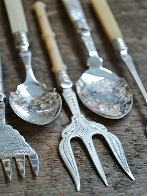 Victorian serving utensils from England