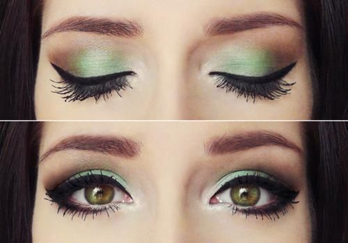 Green: Mint Green, Eye Makeup, Eye Shadows, Brown Eye, Hazel Eye, Eyeshadows, Eyemakeup, Mint Chocolate, Green Eye