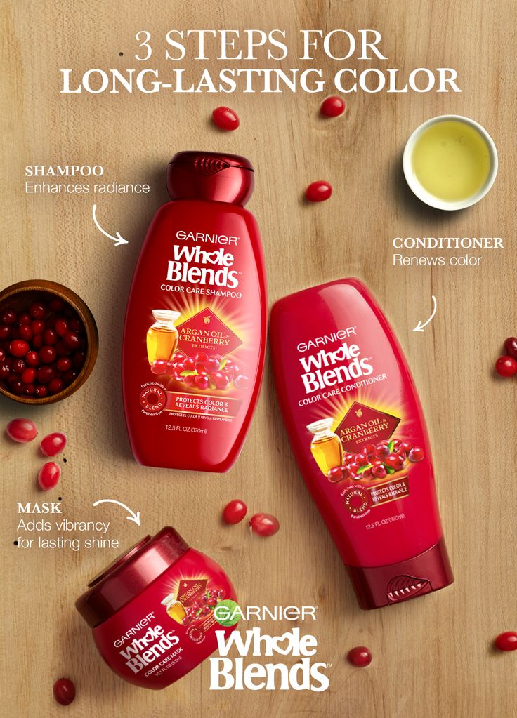 Looking for long-lasting color? Find Your Blend to keep your hair color vibrant for longer. Garnier Whole Blends Color Care Haircare with Argan Oil & Cranberry extracts protects and enhances hair's color. Plus, the Color Care Mask protects and adds luminous shine. Discover Color Care Haircare Now.