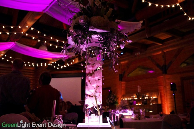Led light base for centerpieces my wedding pinterest
