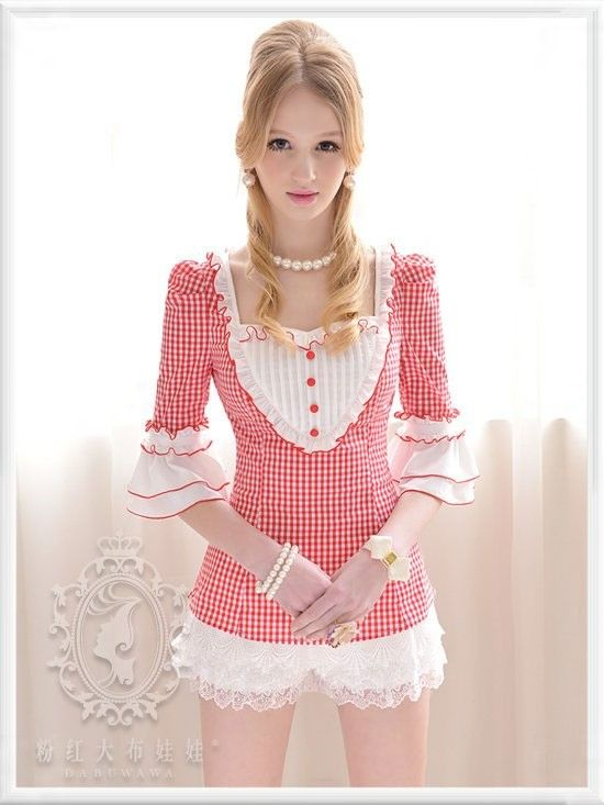 Mango Doll - Red and White Checker Top, $44.00 (http://www.mangodoll.com/all-items/red-and-white-checker-top/)