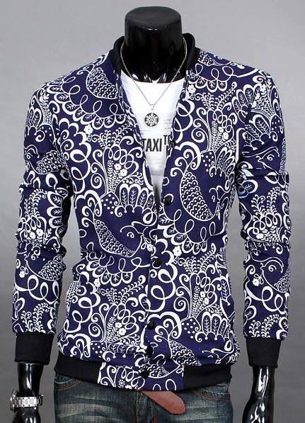 Batik motive blue vest
