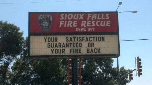 Firefighters with a sense of humor�