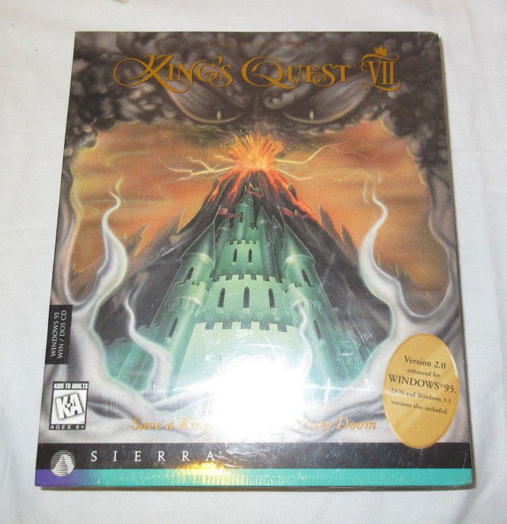 King's Quest VII - The Princeless Bride - Sierra On-Line - Sealed Version 2.0 CD