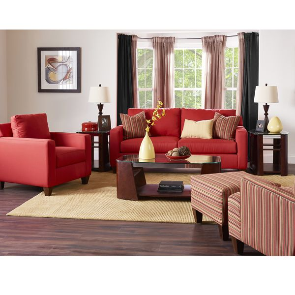 The Suntomato Sofa,covered In A Color Inspired By The Fruit Of New Jersey  And · Red Living RoomsLiving Room ... Part 94